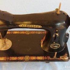 Antigüedades: ANTIGUA MAQUINA DE COSER SINGER MODELO HEXAGON AÑO 1902. Lote 85986032