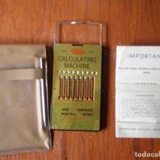 Antigüedades: CALCULADORA MECANICA WIZARD COMPLETA. Lote 86032128