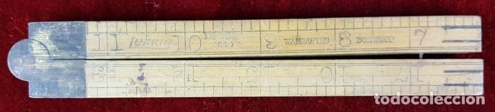 Antigüedades: COLECCION DE 11 REGLAS Y CINTAS METRICAS. MADERA. SIGLO XIX. - Foto 4 - 86040540