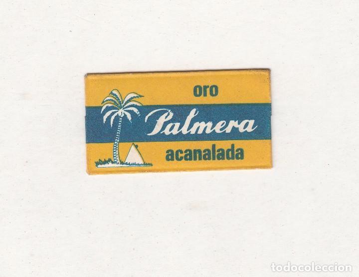 PALMERA ORO ACANALADA (Antigüedades - Técnicas - Barbería - Hojas de Afeitar Antiguas)
