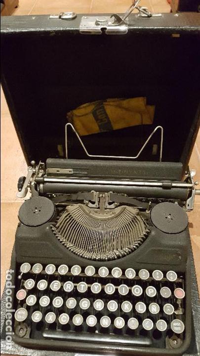 MÁQUINA DE ESCRIBIR CONTINENTAL PORTATIL CON CAJA DE MADERA Y FUNCIONANDO (Antigüedades - Técnicas - Máquinas de Escribir Antiguas - Continental)
