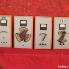 Antigüedades: CUADROS CON LLAVES ENORMES ANTIGUOS TRANSFORMADORES AÑOS 40,VOLTIMETRO,AMPERIMETRO,MUCHAS FOTOS. Lote 86226796