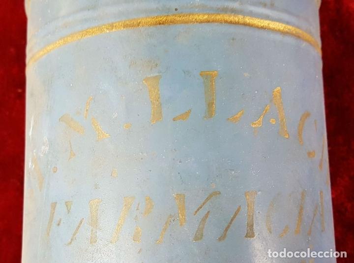 Antigüedades: EMBUDO EN LATÓN. J.M. LLACH. FARMACIA. OLOT. SIGLO XIX-XX. - Foto 2 - 86279944