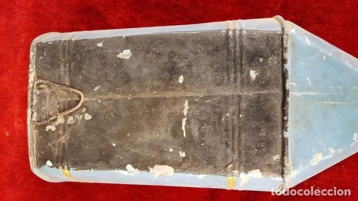 Antigüedades: EMBUDO EN LATÓN. J.M. LLACH. FARMACIA. OLOT. SIGLO XIX-XX. - Foto 8 - 86279944