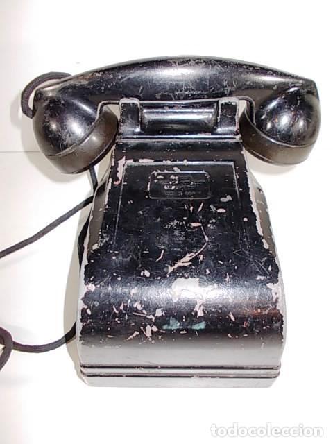 ANTIGUO TELEFONO RADIO AMERICANO FEDERAL TELEPHONE & RADIO CO. CRANK EN METAL. FALTA LA MANIVELA (Antigüedades - Técnicas - Teléfonos Antiguos)