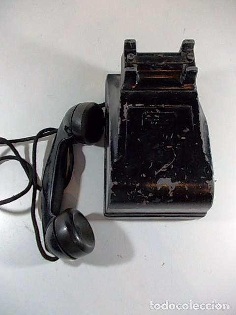 Teléfonos: ANTIGUO TELEFONO RADIO AMERICANO FEDERAL TELEPHONE & RADIO co. CRANK EN METAL. FALTA LA MANIVELA - Foto 7 - 86408912