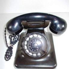 Teléfonos: ANTIGUO TELEFONO SIEMENS DE BAQUELITA NEGRA. CON DIAL DE MARCACION MANUAL. CORDON DE AURICULARES . Lote 86408984
