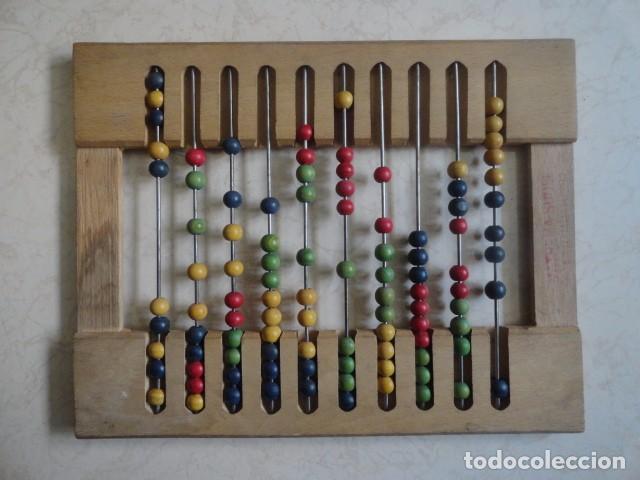 ABACO DE MADERA PROCEDENCIA FRANCESA INFANTIL MATHEMA SUDEL (Antigüedades - Técnicas - Aparatos de Cálculo - Ábacos Antiguos)