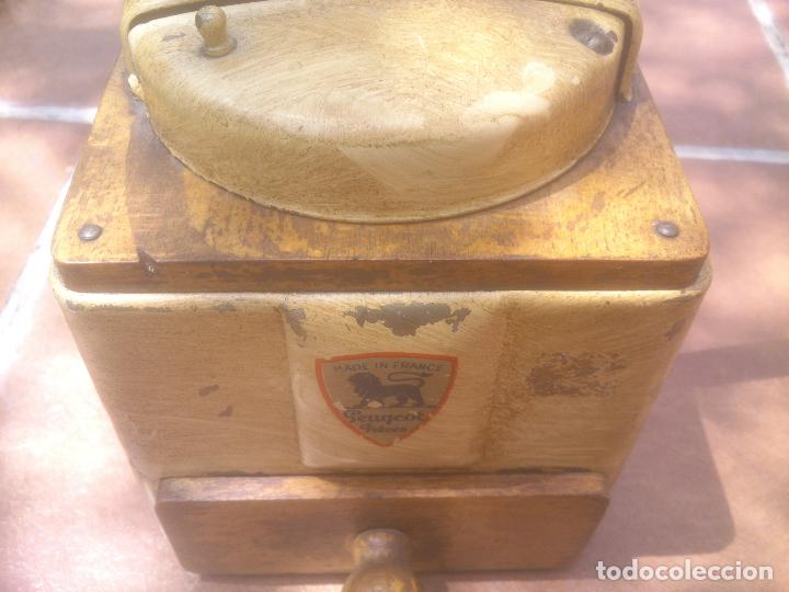 Antigüedades: MOLINILLO DE CAFÉ PEUGEOT FRÈRES, MODELO LAQUÉ. Ca. 1950 - Foto 8 - 86519080