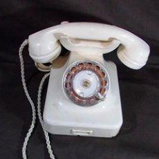 Teléfonos: ANTIGUO TELEFONO ALEMAN EN BAQUELITA BLANCA. Lote 86537988