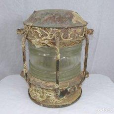 Antigüedades: FAROL NAVAL DE BARCO ANTIGUO HUNDIDO. Lote 86661772