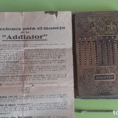 Antigüedades: CALCULADORA ADDIATOR MUY ANTIGUA. AÑOS 30. FUNCIONA. Lote 86712488