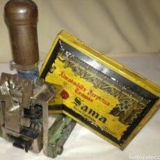 Antigüedades: ANTIGUO SELLADOR Y ALMOHADILLA. Lote 86737023
