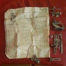 Antiquitäten - Lote Singer con antigua Caja, accesorios y factura - 86823804