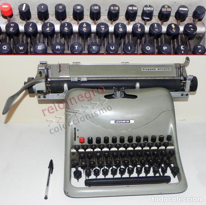 ANTIGUA MÁQUINA DE ESCRIBIR - HISPANO OLIVETTI LEXICON 80 - VINTAGE -MÁS MÁQUINAS EN OTRAS SECCIONES (Antigüedades - Técnicas - Máquinas de Escribir Antiguas - Olivetti)