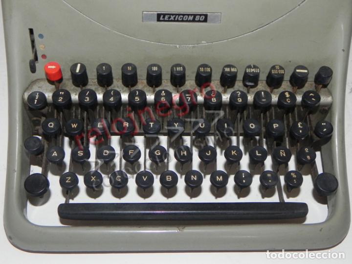 Antigüedades: ANTIGUA MÁQUINA DE ESCRIBIR - HISPANO OLIVETTI LEXICON 80 - VINTAGE -MÁS MÁQUINAS EN OTRAS SECCIONES - Foto 7 - 86830724