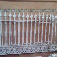 Antigüedades: REJAS PINCHOS REJA CANCELA HIERRO FORJA EN 3 PARTES - 155X105 - 175X105 -- 50X105CM CANCELA VENTANAS. Lote 86874264