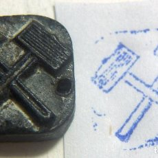 Antigüedades: ANTIGUO SELLO O CUÑO DE IMPRENTA ÉPOCA GUERRA CIVIL PROCEDENTE DE CATALUÑA . Lote 86890212