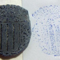 Antigüedades: ANTIGUO SELLO O CUÑO DE IMPRENTA ÉPOCA GUERRA CIVIL PROCEDENTE DE CATALUÑA . Lote 86890228