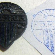 Antigüedades: ANTIGUO SELLO O CUÑO DE IMPRENTA ÉPOCA GUERRA CIVIL PROCEDENTE DE CATALUÑA LLEVA SIGLAS F O R T I C. Lote 86890556