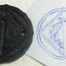 Antigüedades: ANTIGUO SELLO O CUÑO DE IMPRENTA ÉPOCA GUERRA CIVIL PROCEDENTE DE CATALUÑA . Lote 86890576
