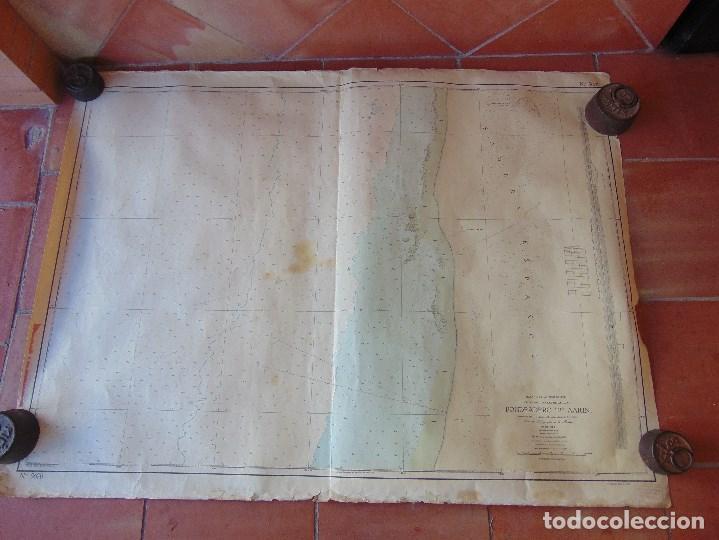 CARTA NAUTICA INSTITUTO GEOGRAFICO MARINA FONDEADERO AAIUN COSTA AFRICANA (Antigüedades - Antigüedades Técnicas - Marinas y Navales)