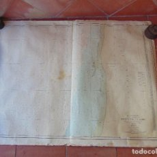 Antigüedades: CARTA NAUTICA INSTITUTO GEOGRAFICO MARINA FONDEADERO AAIUN COSTA AFRICANA. Lote 86974860