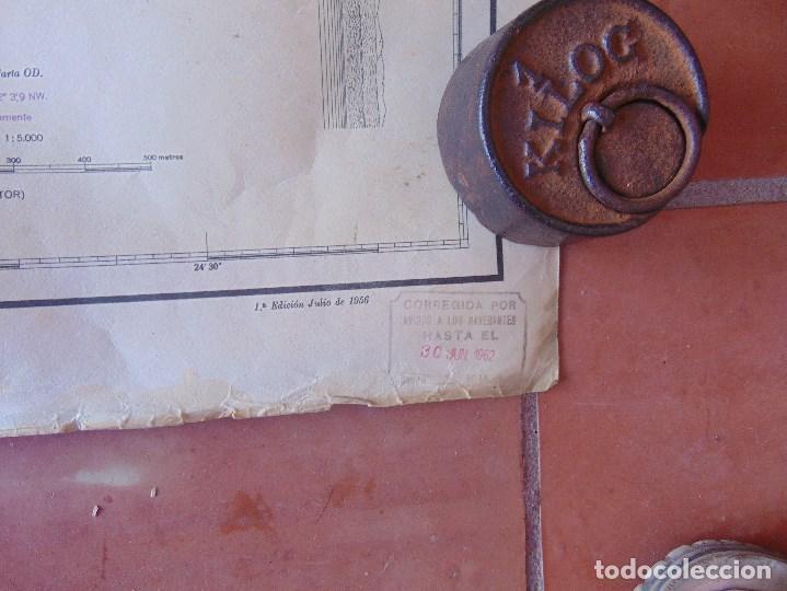 Antigüedades: CARTA NAUTICA INSTITUTO GEOGRAFICO MARINA FONDEADERO AAIUN COSTA AFRICANA - Foto 3 - 86974860