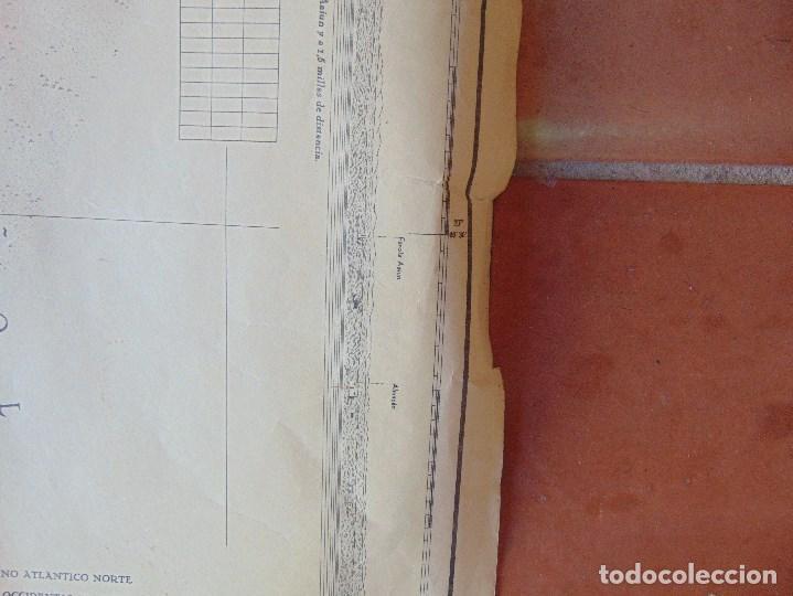 Antigüedades: CARTA NAUTICA INSTITUTO GEOGRAFICO MARINA FONDEADERO AAIUN COSTA AFRICANA - Foto 5 - 86974860