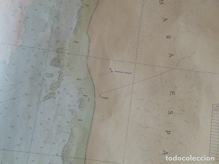 Antigüedades: CARTA NAUTICA INSTITUTO GEOGRAFICO MARINA FONDEADERO AAIUN COSTA AFRICANA - Foto 6 - 86974860