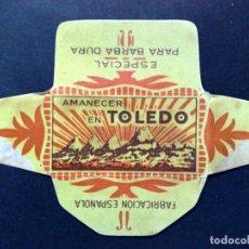 Antigüedades: HOJA DE AFEITAR ANTIGUA-AMANACER EN TOLEDO-ESP. BARBA DURA-VINTAGE. Lote 87044136