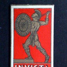 Antigüedades: HOJA DE AFEITAR ANTIGUA-INVICTA-DE GRAN LUJO-VINTAGE. Lote 87044820