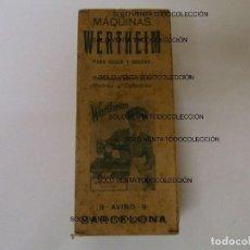 Antigüedades: WERTHEIM BARCELONA CAJA DE CARTÓN ORIGINAL PARA MÁQUINAS DE COSER. Lote 87202588