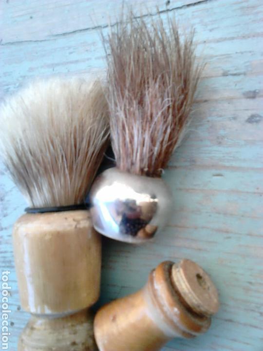 Antigüedades: Lote 2 viejas brochas de afeitar,ideal coleccionistas, ver - Foto 2 - 87216506