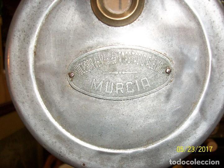 Antigüedades: ANTIGUA MAQUINA PARA MEDIR ACEITES-ANASTASIO ALEMAN-MURCIA-AÑO 1949 - Foto 4 - 87264740