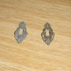 Antigüedades: PAREJA DE BOCALLAVES EN BRONCE MACIZO.. Lote 87275480