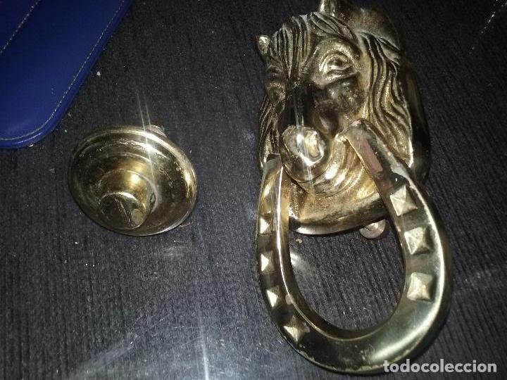 Antigüedades: Antiguo llamador con forma de cabeza de caballo y herradura. - Foto 4 - 87300432