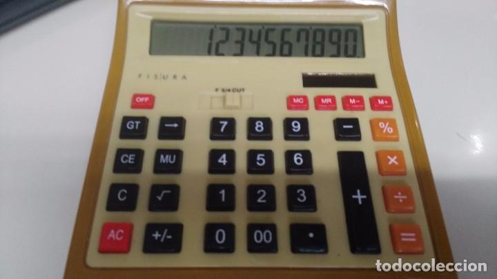 Antigüedades: antigua calculadora fisura funcionando - Foto 2 - 167659126