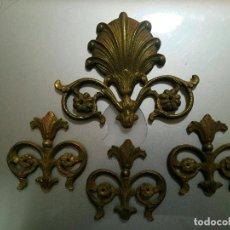 Antigüedades: APLIQUES DE BRONCE, LO QUE SE VE. Lote 87354988