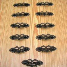 Antigüedades: LOTE DE 11 ASAS TIRADORES.. Lote 87379404
