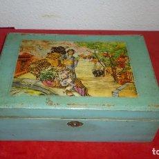Antigüedades: COSTURERO MADERA ANTIGUO. Lote 87381296
