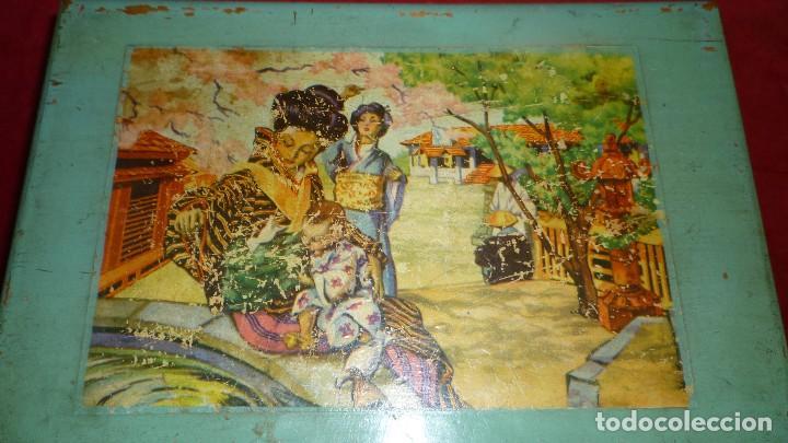 Antigüedades: costurero madera antiguo - Foto 2 - 87381296
