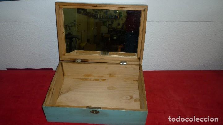 Antigüedades: costurero madera antiguo - Foto 3 - 87381296