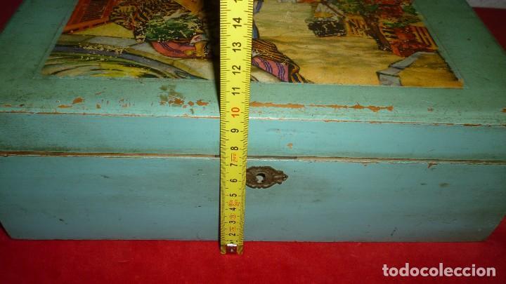 Antigüedades: costurero madera antiguo - Foto 5 - 87381296
