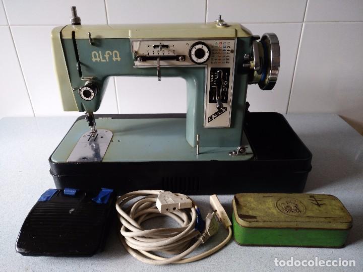 Maquina de coser alfa electrica funcionando con - Vendido