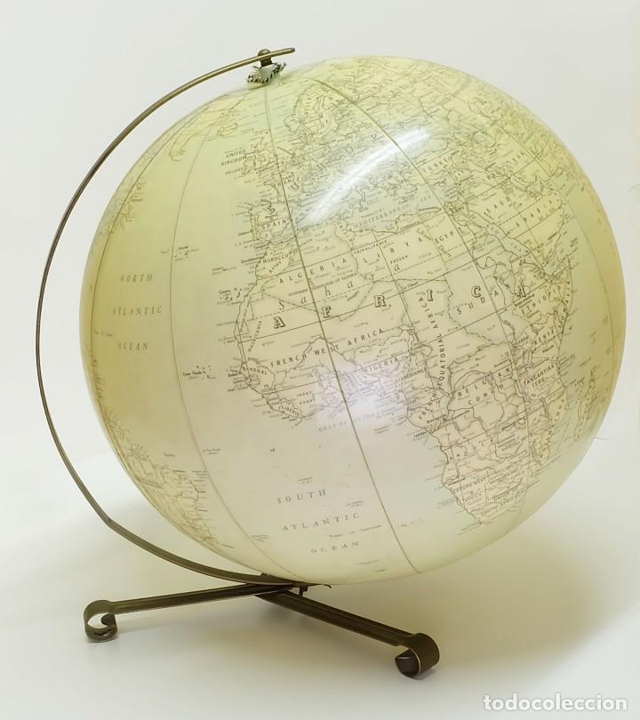 1955 GLOBO TERRÁQUEO HINCHABLE HAMMOND DE GRAN TAMAÑO INFLATABLE TERRESTRIAL GLOBE (Antigüedades - Técnicas - Varios)