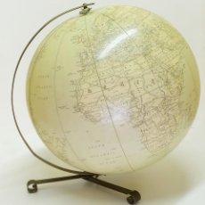 Antigüedades: 1955 GLOBO TERRÁQUEO HINCHABLE HAMMOND DE GRAN TAMAÑO INFLATABLE TERRESTRIAL GLOBE. Lote 87402528