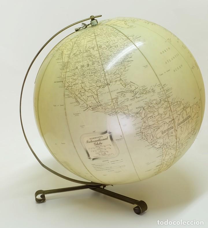 Antigüedades: 1955 Globo terráqueo hinchable Hammond de gran tamaño inflatable terrestrial globe - Foto 2 - 87402528