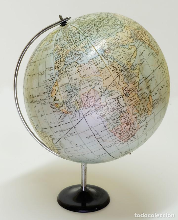 1950CA GLOBO TERRÁQUEO HINCHABLE ANTIGUO INFLATABLE TERRESTRIAL GLOBE (Antigüedades - Técnicas - Varios)