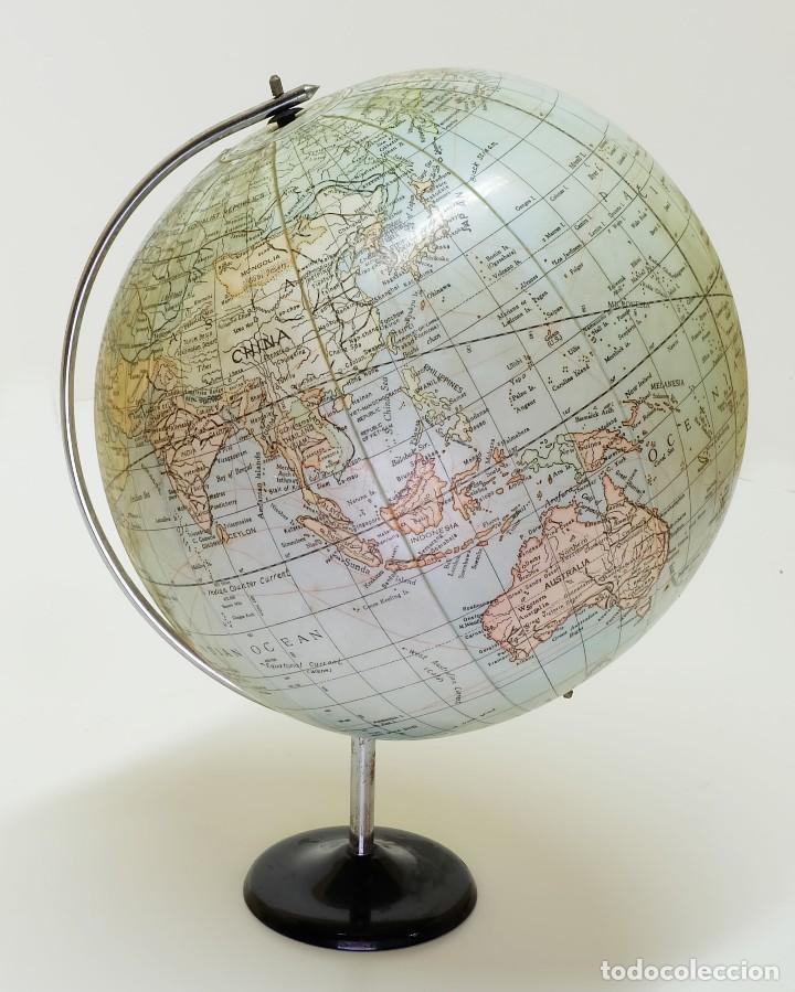 Antigüedades: 1950ca Globo terráqueo hinchable antiguo inflatable terrestrial globe - Foto 2 - 87403392